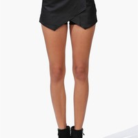 Envelope Skort in Matte Black
