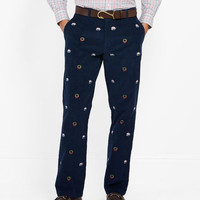 Holiday Embroidered Corduroy Club Pants