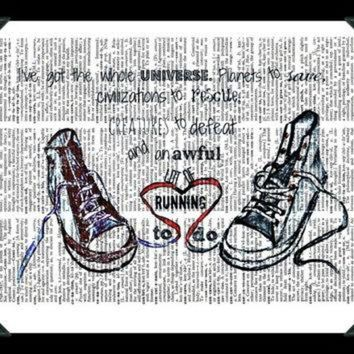 VLXJZ Buy Any 2 Prints get 1 Free Converse Running Doctor Who Quote Vintage Dictionary Art
