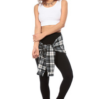 Black White Plaid and Stylish Tie Over Leggings