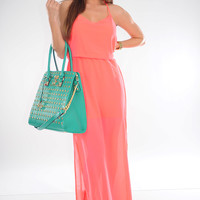Ark & Co: Paradise Bound Dress: Neon Pink | Hope's