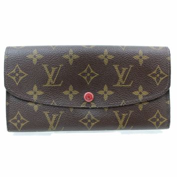 Authentic Louis Vuitton Long Wallet Emilie Browns Monogram 248162