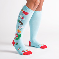 Jingle Cats Knee Socks