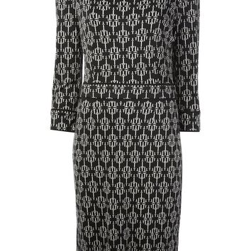 Tory Burch geometric print crepe dress