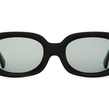 Crap Eyewear - Bikini Vision Black Sunglasses / Green Vintage Lenses