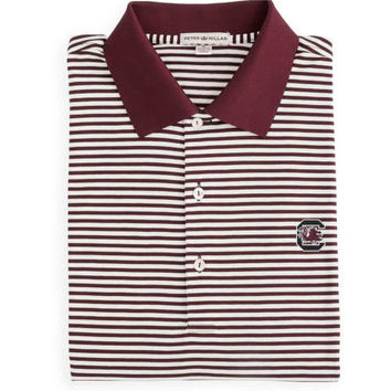 South Carolina Classic Stripe Cotton Polo Maroon & White