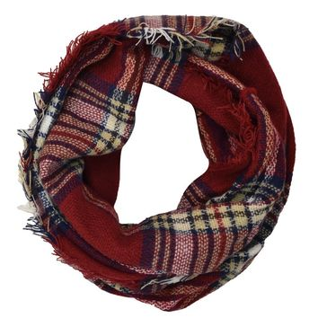 CLASSIC PLAID CHECK PATTERN INFINITY SCARF