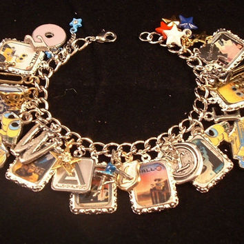Disney Pixar's WALL E Altered Art Charm Bracelet by rockshanks