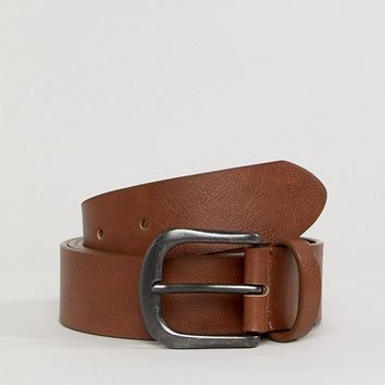 ASOS DESIGN Curve vintage tan jeans belt at asos.com