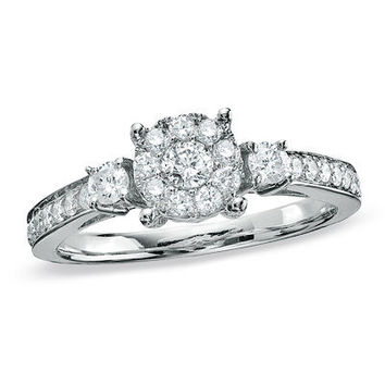 5/8 CT. T.W. Diamond Engagement Ring in 14K White Gold - View All Rings - Zales