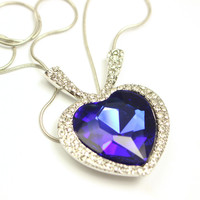 New Arrival Stylish Jewelry Shiny Gift Birthday Gifts Crystal Sea Necklace [6586201095]