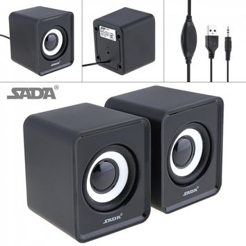 ABS material Subwoofer Small PC Speaker Portable bass Music DJ USB Computer Speakers For laptop Phone TV