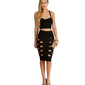 Black Paparazzi Pencil Skirt