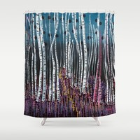 :: Pink Moss :: Shower Curtain by :: GaleStorm Artworks ::