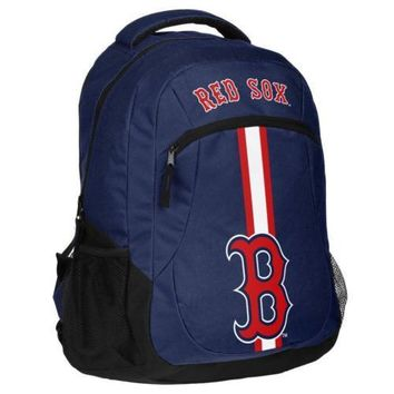 * Boston Red Sox Action Backpack Back Pack School Book Gym Bag
