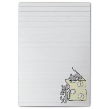 Cute Mice and Cheese Graphic Post-it® Notes