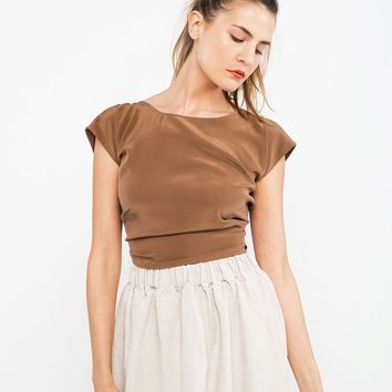 Maxine Crop in Silk Crepe