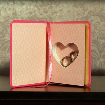 Hollow Book Safe with Heart (Fortune-Telling Book of Love)