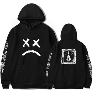 XXXTENTACION hoodies women Men's sweatshirt harajuku top hip hop hoodie men fashion Big pocket Smiley face LIL PEEP hoody man