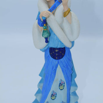 Lenox Rhapsody in Blue Figurine Vintage American Songbook Series 1930s Ladies in Period Dress Art Deco Flapper Dress Ceramic Figure
