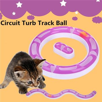 Funny Pet Toys Cat Crazy Ball Interactive Amusement Plate Training Toys Ball Disk Cat Kitty Kitten Play Chase Game