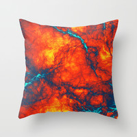 Abstract Thunder Throw Pillow by Sanja Amic