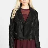 Women's BLANKNYC Quilted Faux Leather Moto Jacket,