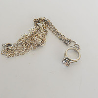 Once Upon A time Fairytale Engagement ring necklace
