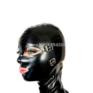 sexy lingerie design sexy products handmade customize size female women Latex Mask Hoods back zipper Fetish plus size