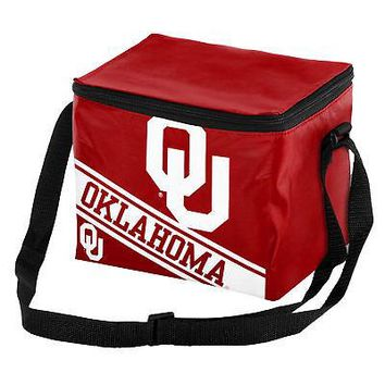 Licensed Oklahoma Sooners NCAA Cooler 6 Pack Ice Lunch Box Bag Forever Collectibles KO_19_1