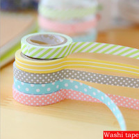 5 pcs masking 5m washi tape DIY album scrapbook Decoration sticky Stationery school supply paper office adhesive tape