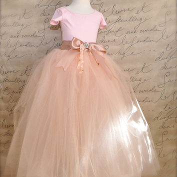 Flower Girl Princess Tutu in antique blush pink by TutusChic