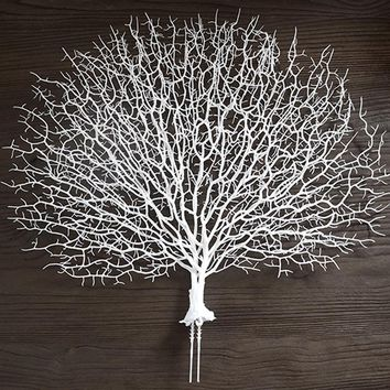 1pc Wedding Party Decoration Peacock Coral Branch Plastic Decorative Tree Dried Plants Branches Artificial Plant Decor 6A0028
