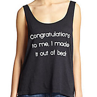 Wildfox - Oversized Printed Tank - Saks Fifth Avenue Mobile