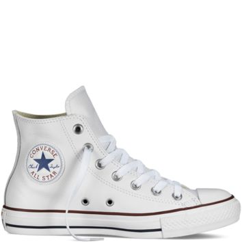 Converse Chuck Taylor All Star Leather White Hi Top