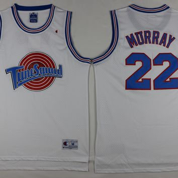 #22 Bill Murray Space Jam Tune Squad Basketball Jersey White stitched