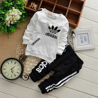 brand new Boys clothing set kids baby sports suit children tracksuit girls T shirt pants sweatshirt carter casual clothes suits