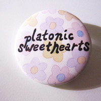 Platonic Sweethearts - limited art pin