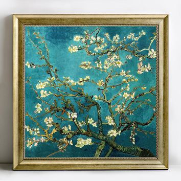 5D Diy diamond painting cross stitch Van Gogh Almond blossom diamond embroidery round rhinestone resin diamond picture mosaic
