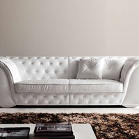3 seater upholstered leather sofa LAPO-QUILT Lapo Collection by CorteZari