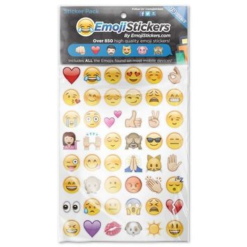 Emoji Sticker Pack 912 Die Cut Stickers. iPhone, Instagram & Twitter. FREE SHIP!