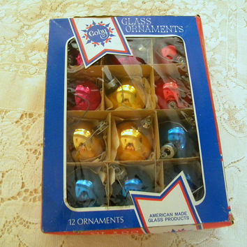 Colby Christmas ornaments box of 12 in assorted colors