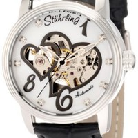 Stuhrling Original Women's 349.11157 Amour Aphrodite Venus Victrix Automatic Mechanical Swarovski Crystals Mother-Of-Pearl Black Watch