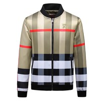 Burberry 2018 autumn and winter new tide brand Slim printed men's jacket