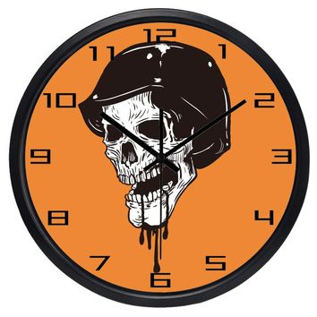 Punk Skull Wall Clock Cool Design Class Clock 12-14inch Large Over Size