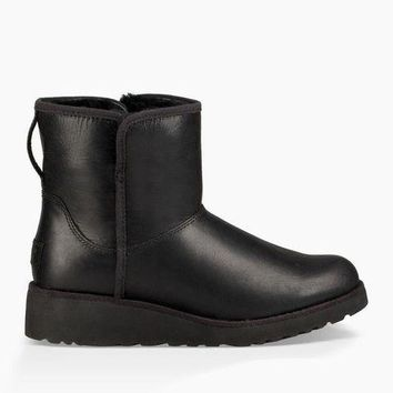 LNFNO UGG Australia Women's Kristin Leather Classic Boot | Black
