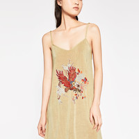 PATCH DRESS WITH STRAPS - DRESSES-TRF | ZARA United Kingdom
