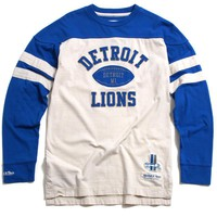 Detroit Lions NFL Swing Pass Longsleeve Shirt Blue