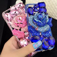Water drill blue Vicky phone case shell  for iphone 6/6s,iphone 6p/6splus,iphone 7/8,iphone 7p/8plus, iphonex