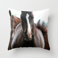 Horses Throw Pillow by Falko Follert Art-FF77